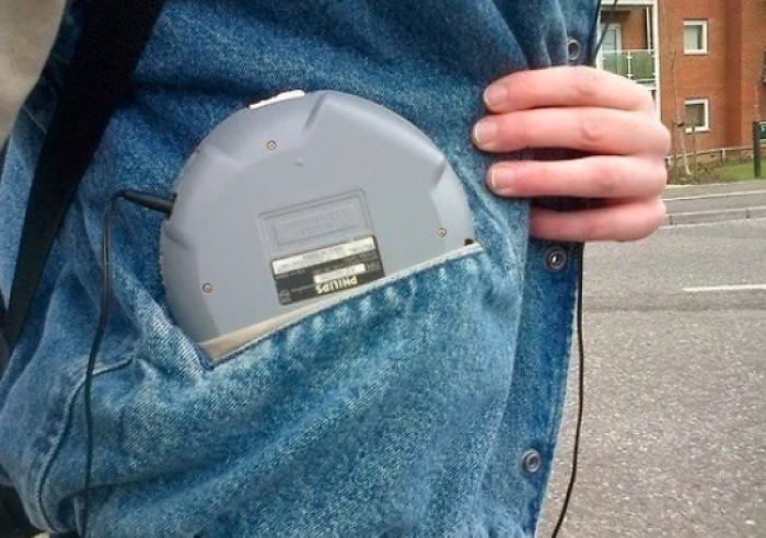 13. You put batteries into your CD player.