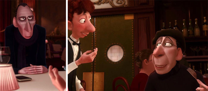 'At The End Of Disney/Pixar's Ratatouille (2007) Anton Ego Is A Little Bit Fatter. This Is Especially Poignant Since He States,