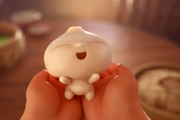"""'The Name Of Pixar's 2018 Short, Bao, Is A Play On Words. 包, Pronounced """"Bao"""", Is The Mandarin Chinese Word For """"Dumpling""""; However, This Pronunciation Is Shared By 宝, Meaning """"Treasure"""" Or """"Baby"""", And 保, Meaning """"Protect"""" Or """"Defend"""".'"""