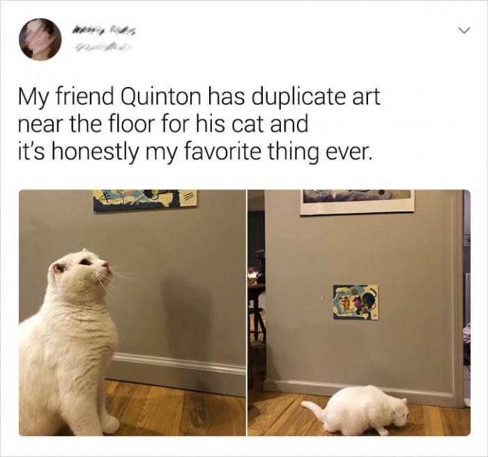 2. Cats appreciate art too