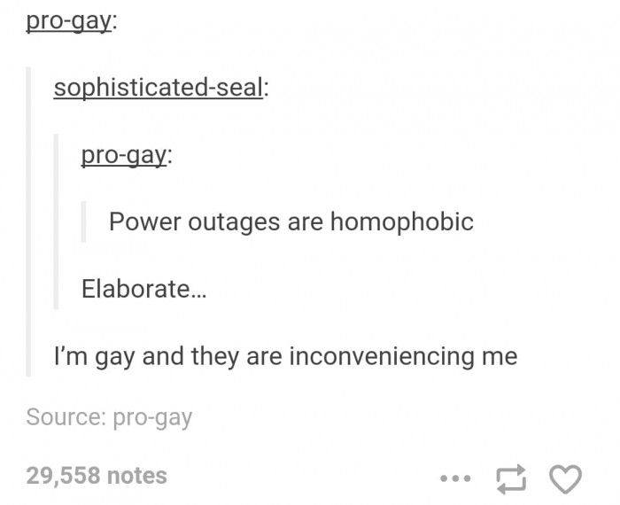 12. So, everything that inconveniences gay people is homophobic…. Traffic too.
