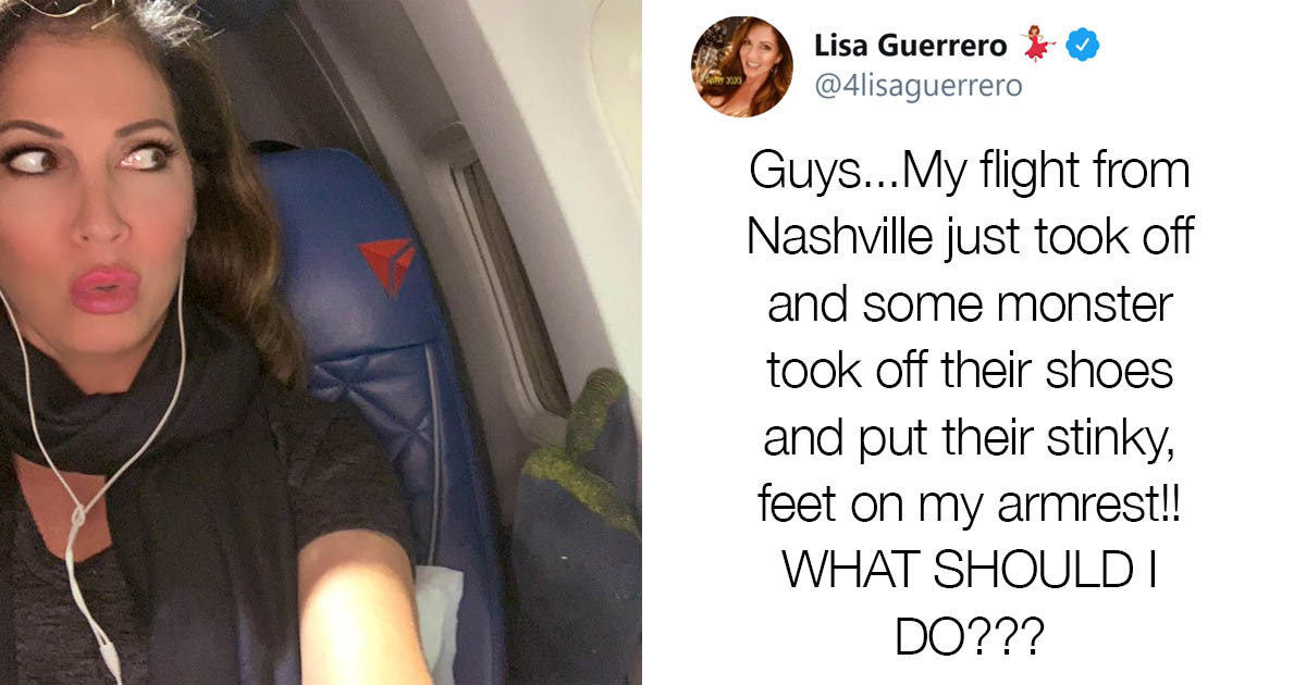Woman Asks Twitter How To Deal With A Person's Smelly Feet On Her Airplane Armrest