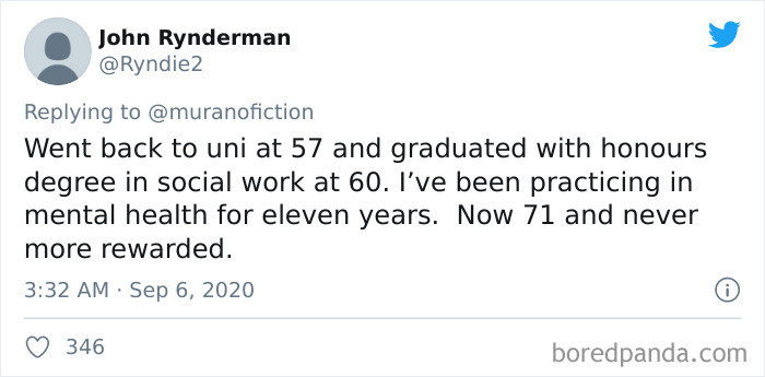 Back to uni at 57! Never too late!