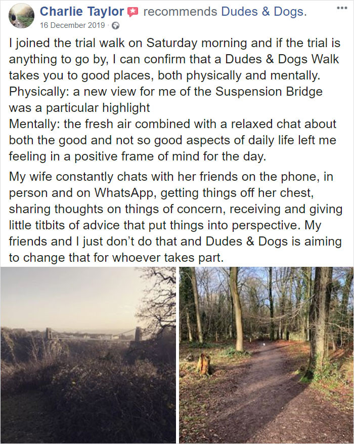 Here's what guys who took a walk with Rob have to say about it