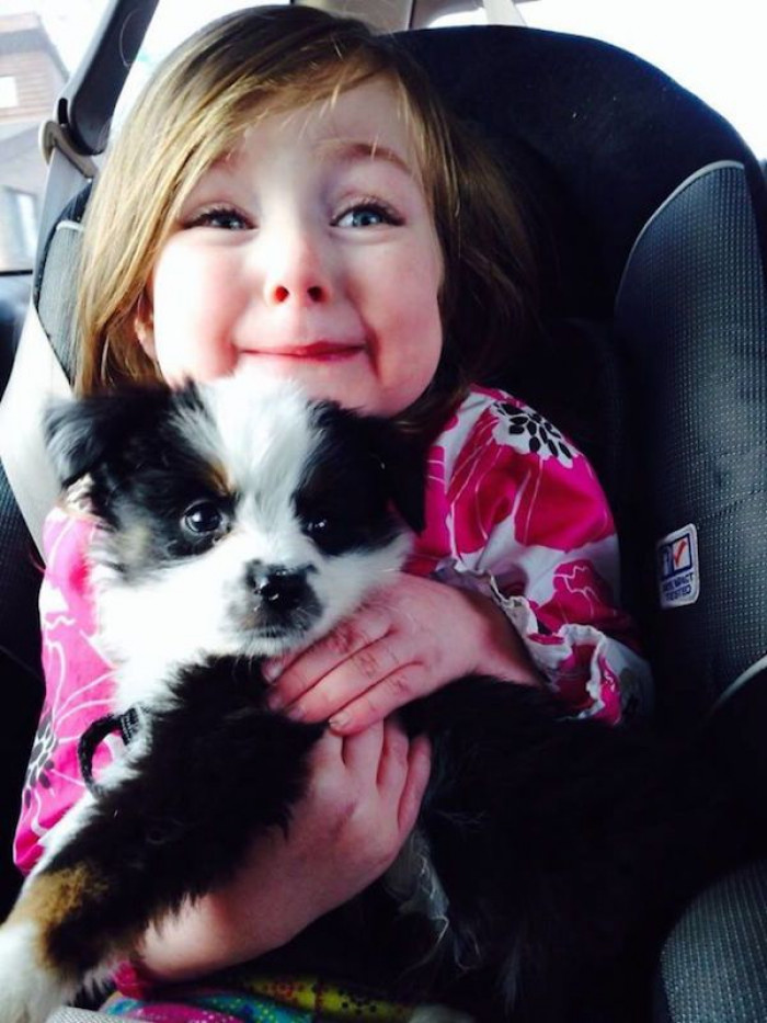 """""""My friend's daughter and her Valentine's present."""""""