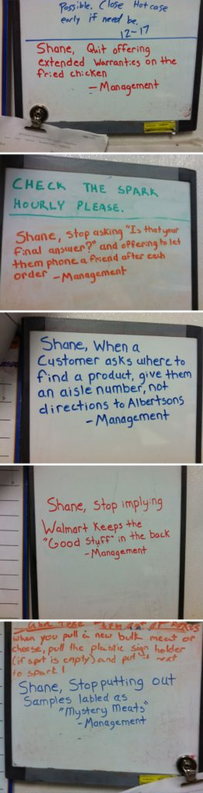 I hope Shane never gets fired