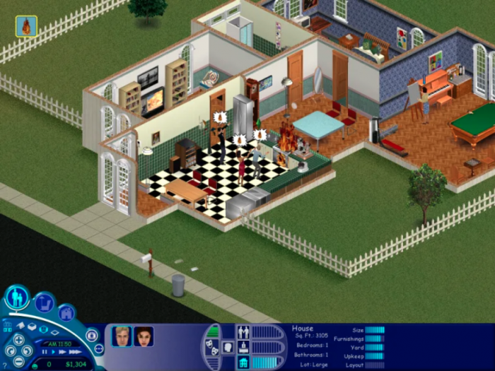 2. You checked in on your Sims family.