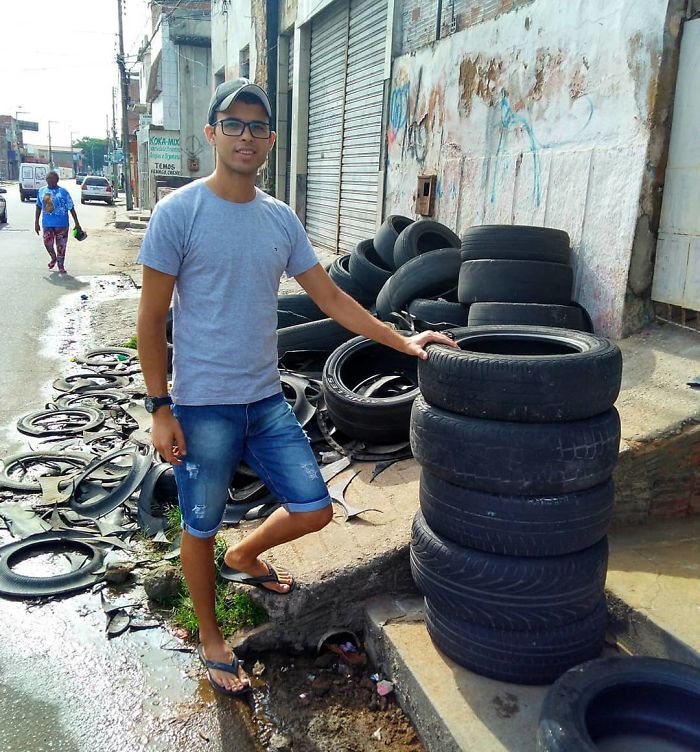 It all started two years ago when Silva saw potential in these unwanted tyres.