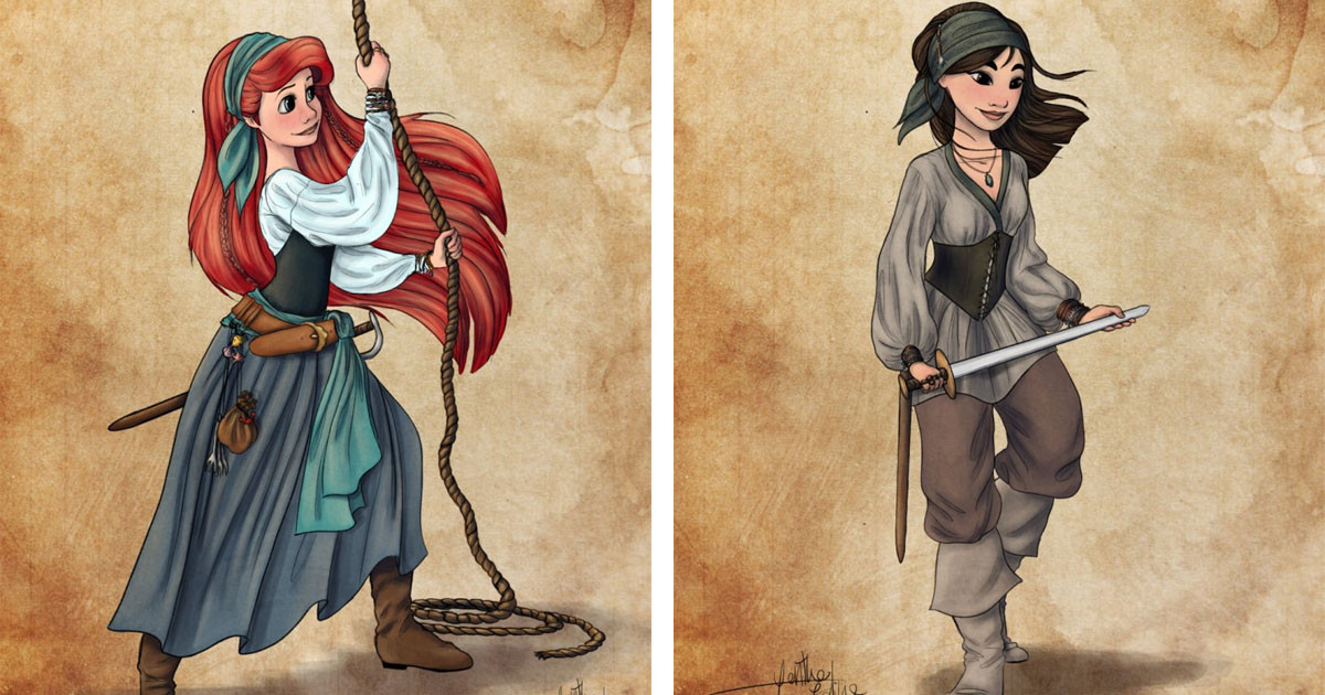 An Artist Drew Disney Princesses As Badass Pirates And We Re In Love