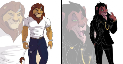 """Artist Recreates Disney's """"The Lion King"""" Characters As Humanoid Creatures"""