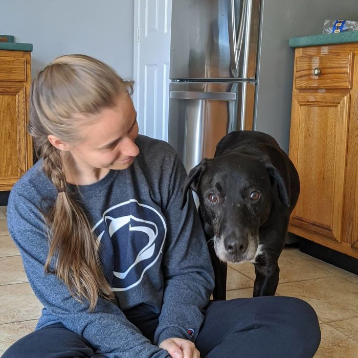 12. Everyone Meet Jake (7-Years-Old). My Wife (Pictured) And I Adopted Him Yesterday From A Local Shelter