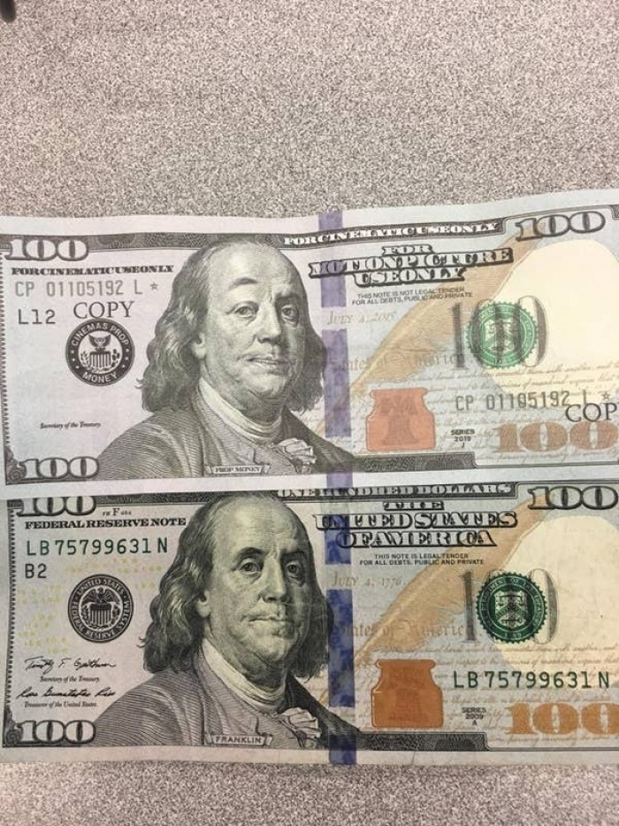 8. Some counterfeit money is good quality but there is no excuse for accepting this
