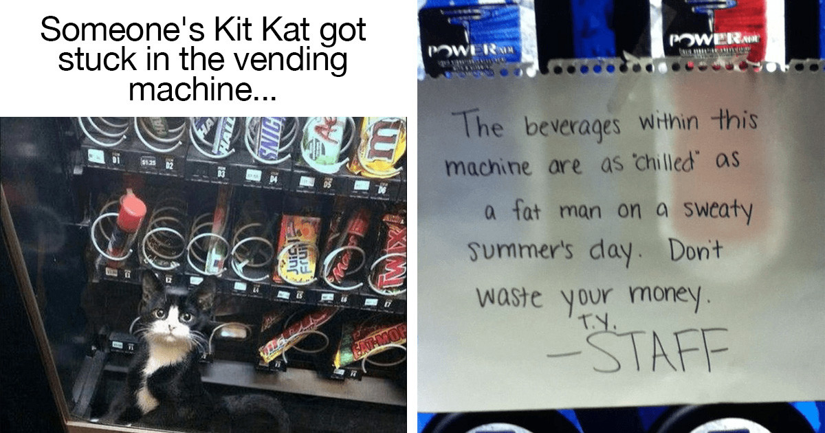 15 Vending Machines That Hilariously Suck at Their Job