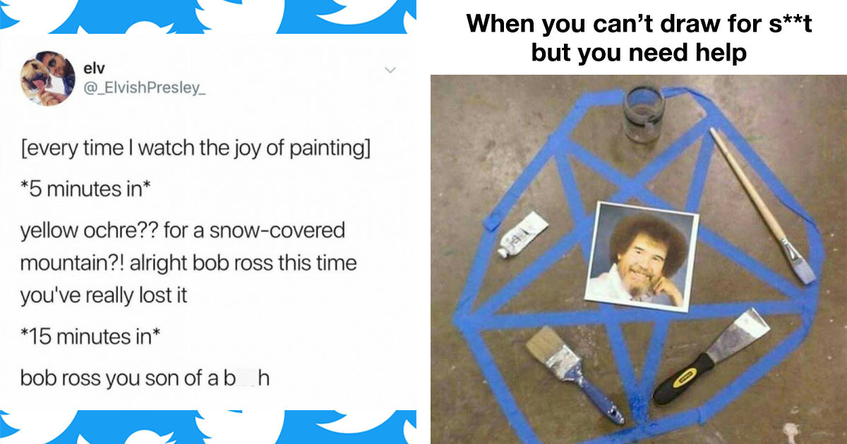 These Bob Ross Memes are as Entertaining as the Man Himself