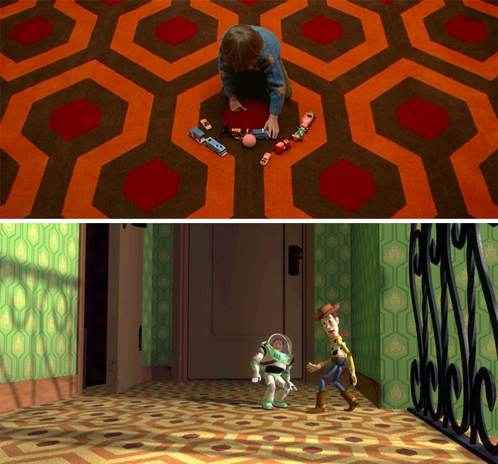 'The Carpet At Sid's House In Toy Story (1995) Was Intentionally Made The Same As The Carpet At The Overlook Hotel In The Shining (1980), One Of Many References To The Horror Film Throughout The Pixar Series.'