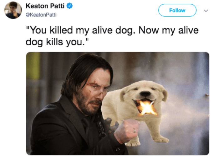 No new John Wick script would be complete without this photo.