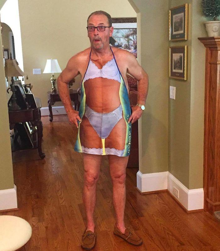 5. Dad's bikini bod