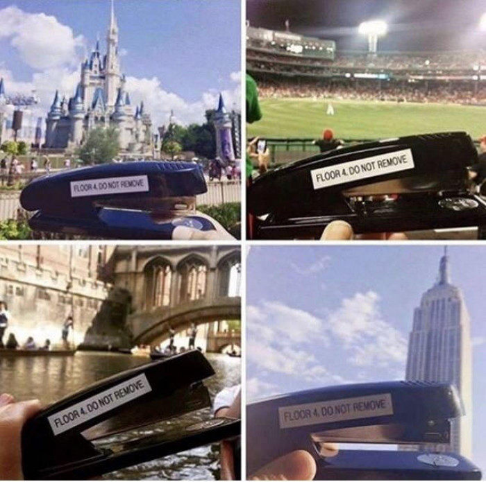 This stapler's life is better than mine