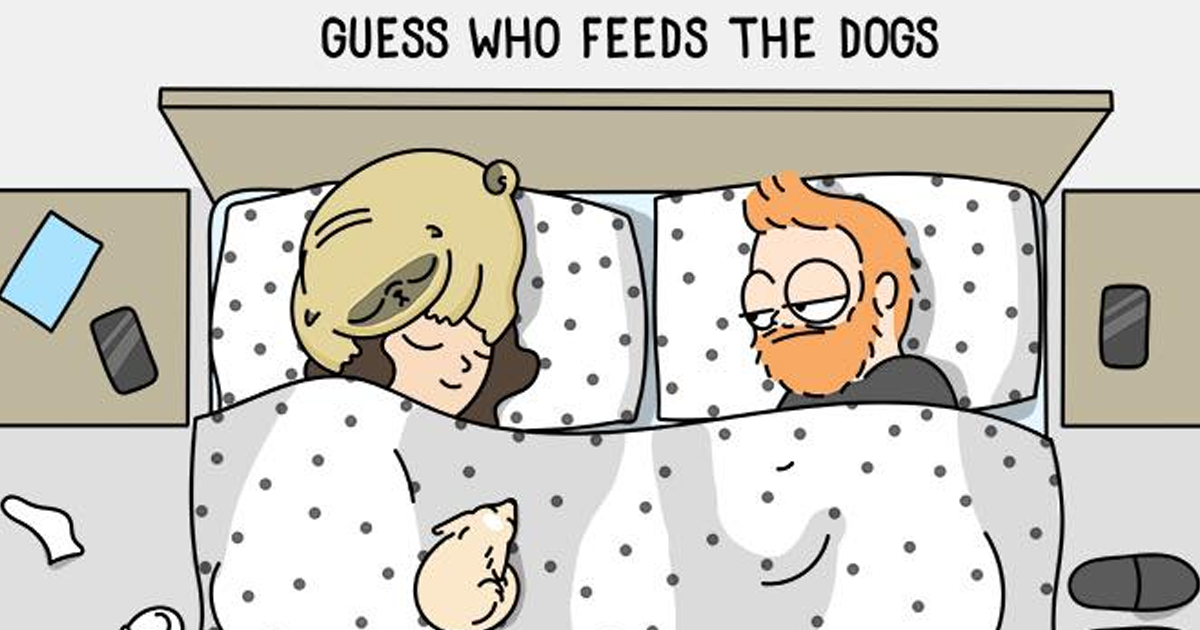 Take A Look At These 30 Lovely Illustrations That Show What It's Like To Live With A Dog