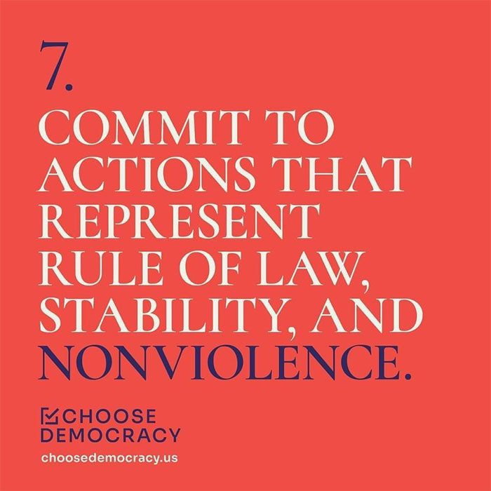 Choose Democracy advocates for a non-violence approach