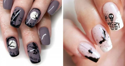 """30 Times People """"Nailed"""" Halloween With Their Creative Nail Art"""