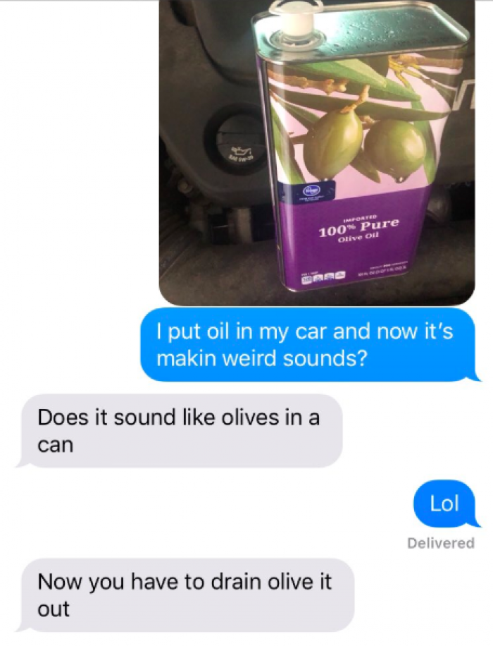8. Dad being so chill he's got a classic dad joke for it