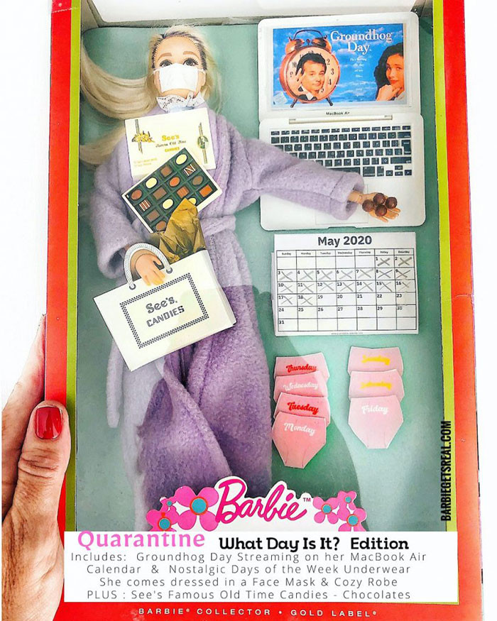 10. Quarantine Barbie – What Day Is It? Edition
