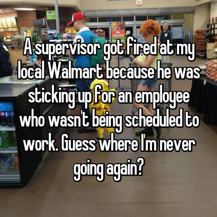 1. Shame on you Walmart