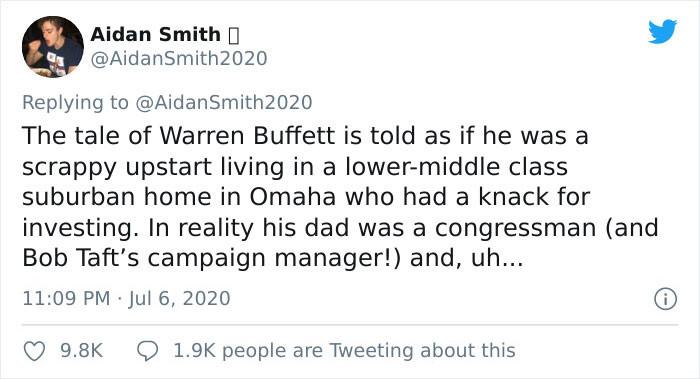 And about Warren Buffett: