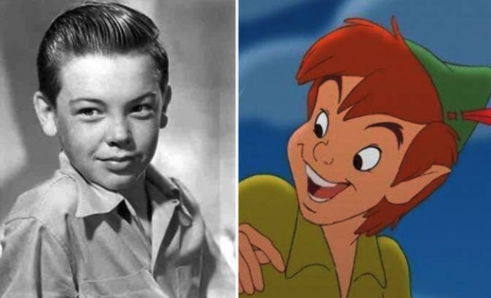 9. Bobby Driscoll, who gave voice to Peter Pan and vas a model for the character's appearance, died broke, unclaimed, and unidentified in an empty apartment building at the age of 31.