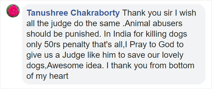 Internet users believe that the judge's sentences were appropriate.