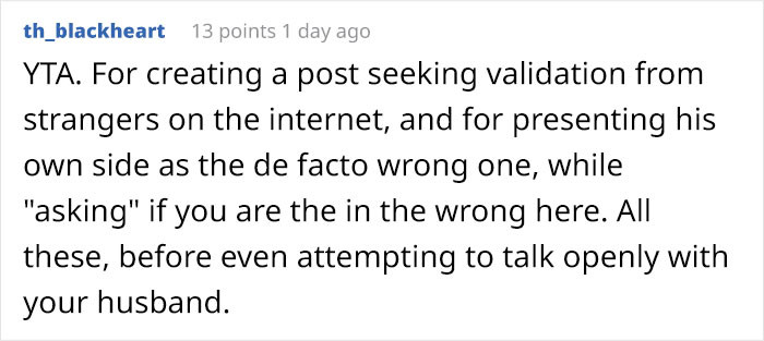 This Redditor begs to differ. (This could be her husband tho. Haha!)