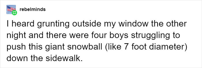 Pushing a snowball
