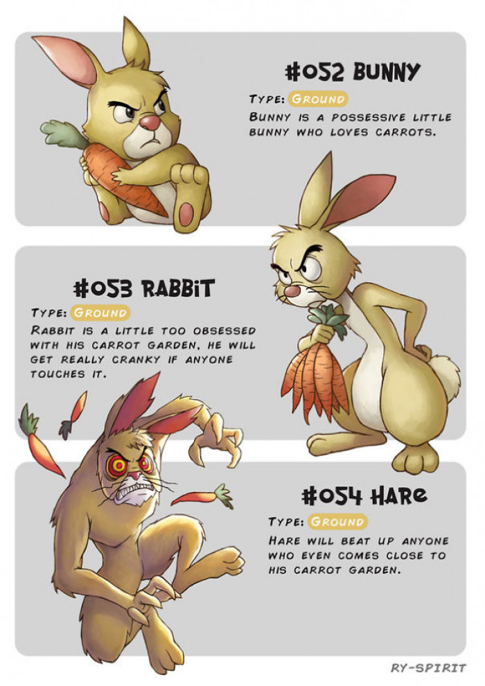 4. Bunny, Rabbit and Hare