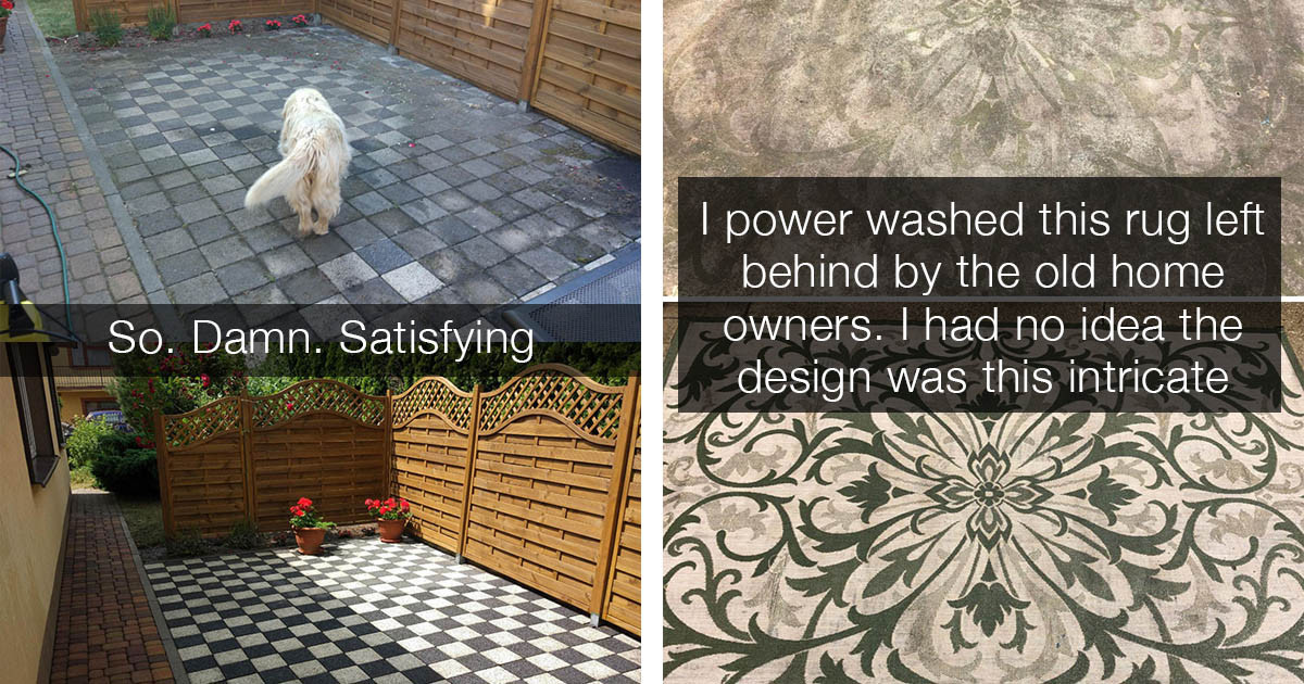 Extremely Satisfying Transformations By Powerwashing