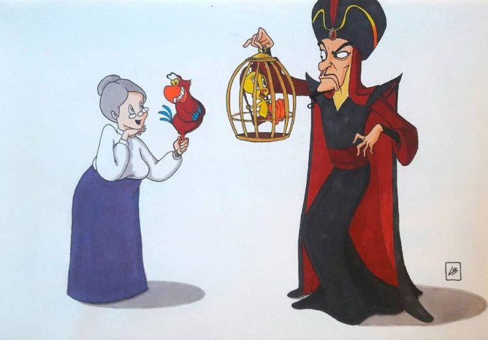 7. Tweetie Bird not looking to stoked about hanging out with Jafar