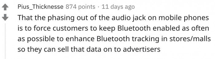 100% BELIEVE this. Also, I miss being able to plug headphones in BIG TIME.