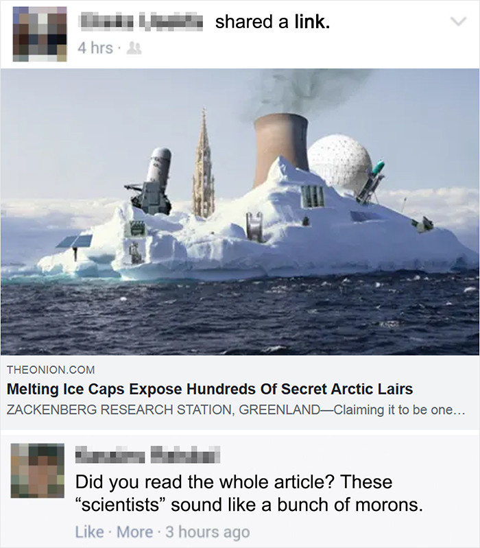 A moron is someone who doesn't understand satire