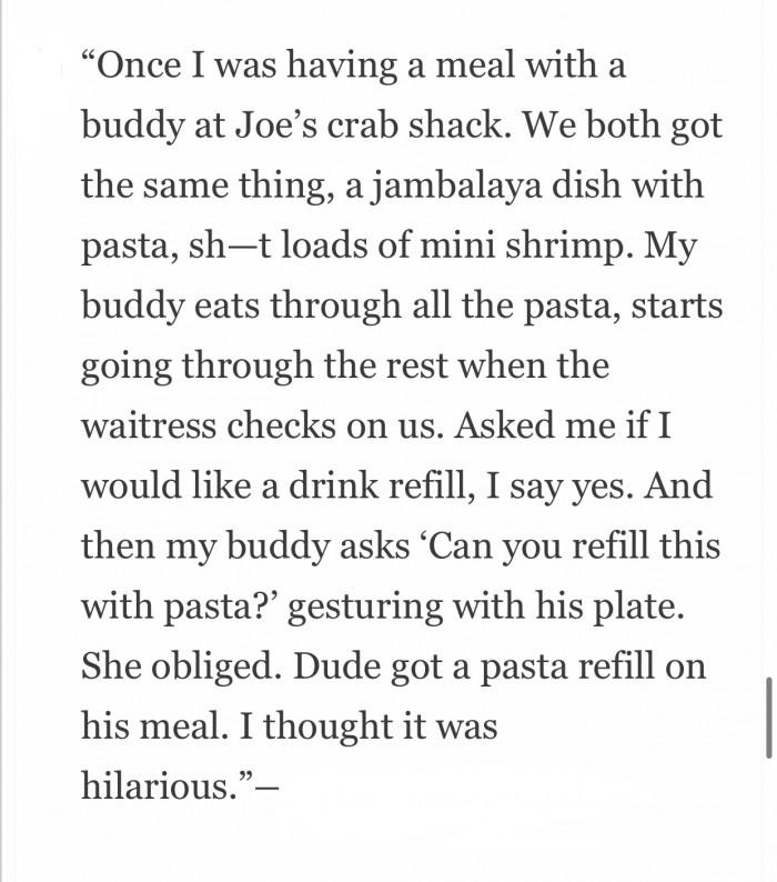 Joe's Crab Shack!
