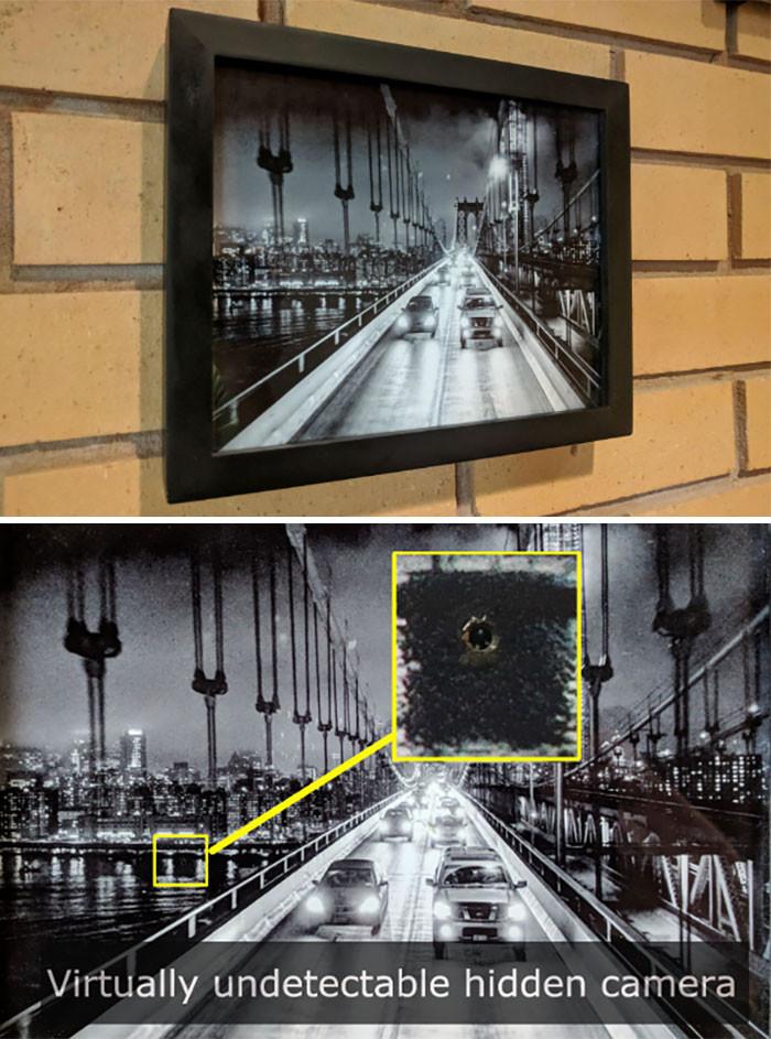 3. Hidden in a photo frame