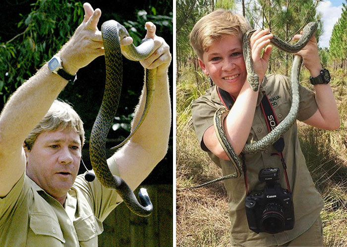 The apple certainly hasn't fallen far from the tree when it comes to Robert and Bindi Irwin