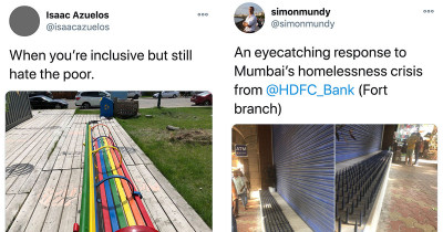 Examples Of Hostile Architecture To Prevent Homeless People From Being Able To Shelter