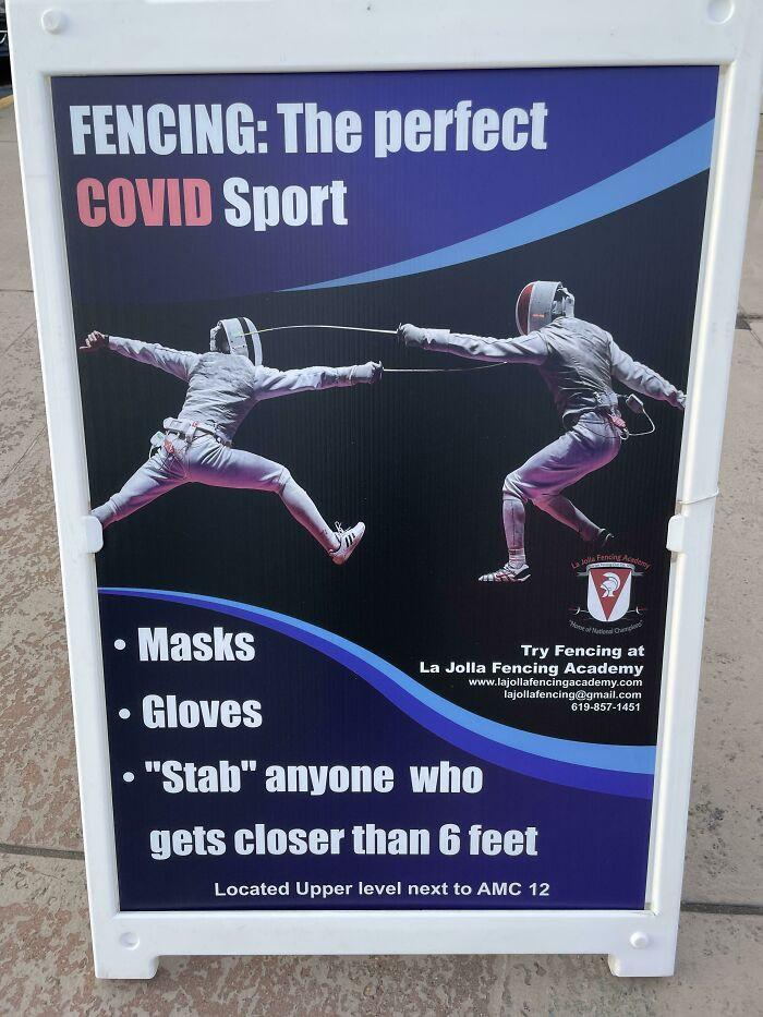#1 Sign Posted Outside A Fencing Academy