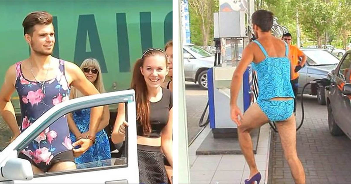 Russian Gas Station Offers Free Fuel As Long As You're Wearing A Bikini, So Guys Immediately Jumped In