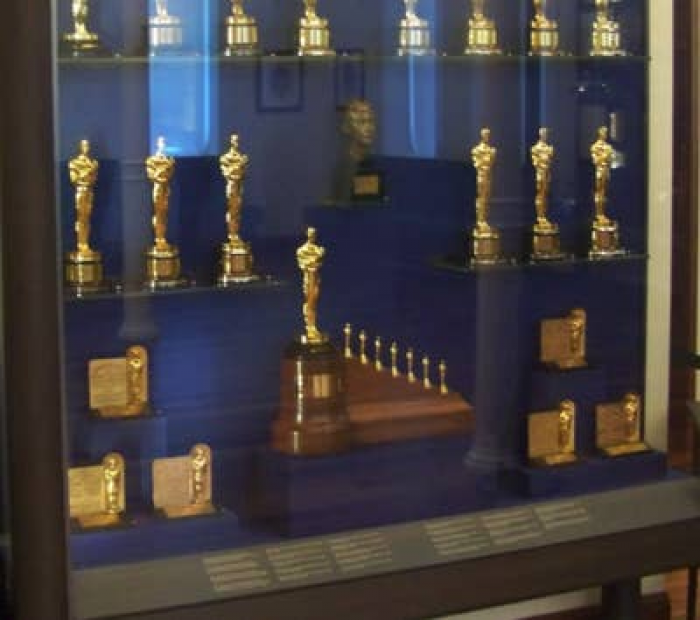13. Walt Disney received one regular-sized Honorary Oscar and seven small statuettes in 1939, each being one of the seven dwarfs, to honor his groundbreaking work on Snow White.