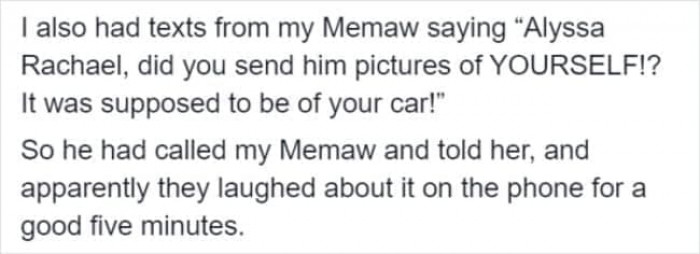 Uh oh... memaw's using both her name's!