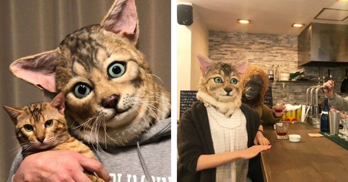 These Human-Sized Masks That Look Like Realistic Replicas Of Our Pets Faces Are Amazing And Horrifying