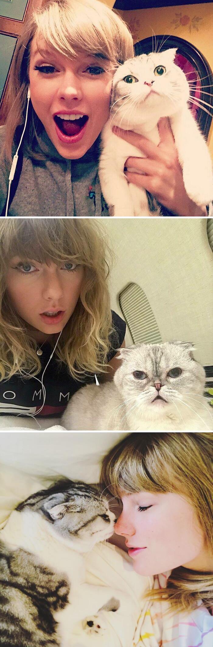 18. Taylor Swift is a bonafide cat lady.