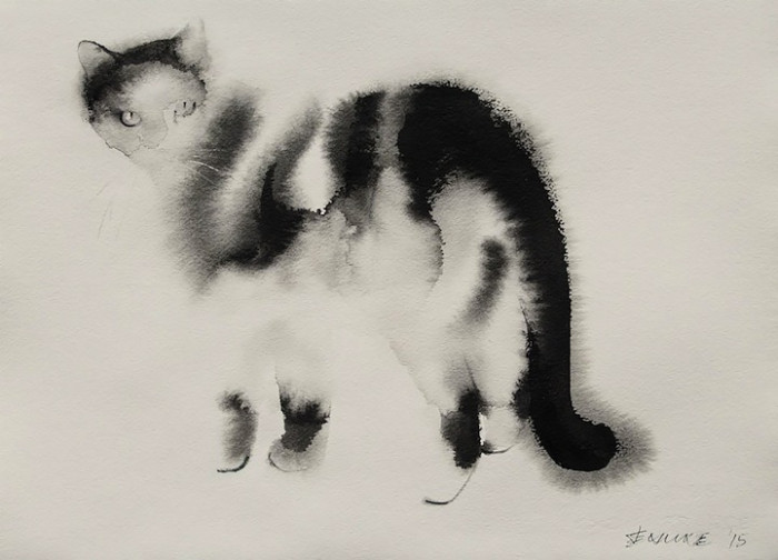 6. The cat itself is transparent but you can still clearly notice all the details