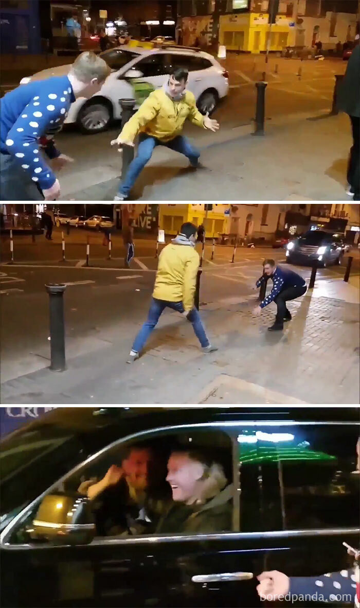 25. Two Drunk Guys Imitate Connor Mcgregor As He Drives Past